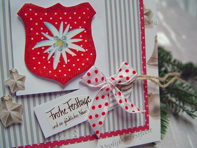 Weihnachtskarte Edelweiss Detail